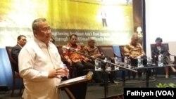 Menteri Desa, Pembangunan Daerah Tertinggal dan Transmigrasi Eko Putro Sandjoj. (Foto: VOA/Fathiyah)