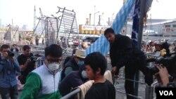 香港金钟占领区障碍清理顺利