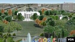 Con la nueva vista en 3D puede visitar lugares como la Casa Blanca con vistas espectaculares.