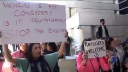 全美数千人示威抗议川普新移民行政令