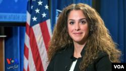 سحر نوروز زاده بعد از حضور در شورای امنیت ملی کاخ سفید اکنون در وزارت خارجه آمریکا حضور دارد.