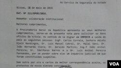 Carta do PGR da Guiné-Bissau a impedir saída de membros do Governo