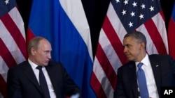Президент США Барак Обама та президент Росії Володимир Путін на зустрічі в Мексиці, 18 червня 2012 р.
