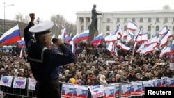 Qrimda referendumdan oldin konsert, Simferopol, 9-mart, 2014-yil