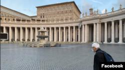 天主教香港教區榮休主教陳日君樞機在上星期造訪羅馬(照片來源:陳日君在臉書上貼文)