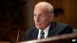 Homeland Security Secretary John F. Kelly testifies on Capitol Hill in Washington, June 6, 2017.