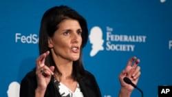 Nikki Haley, nueva embajadora de Estados Unidos ante la ONU.