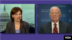 VOA's Vivian Chakarian interviews James A. Baker on July 10, 2014