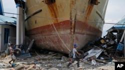 Suasana tanggal 4 Oktober, paska tsunami di Sulawesi Tengah.