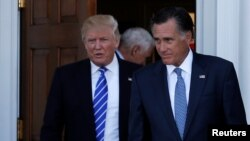도널드 트럼프 미국 대통령과 밋 롬니 전 매사추세츠 주지사.