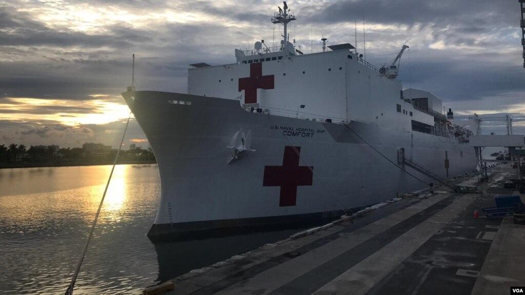 Elbuque hospital viajará a Colombia, Costa Rica, República Dominicana, Ecuador, Granada, Haití, Jamaica, Panamá, Santa Lucía y St. Kitts y Nevis.