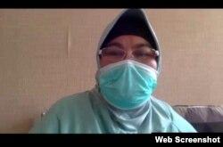 Tim Pakar Satgas Penanganan COVID-19 Dr Erlina Burhan dalam telekonferensi pers di Jakarta, Kamis (1/10) mengatakan Covifor di ujicoba kan kepada pasien berat COVID-19 (screenshot)