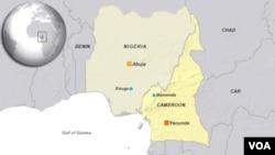 Peta wilayah Bamenda, Cameroon dan Enugu, Nigeria