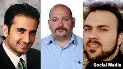 از راست: سعید عابدینی، جیسون رضائیان و امیر حکمتی