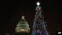 美國國會山的聖誕樹