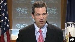 미 국무부 정례 브리핑에서 마크 토너 부대변인. (자료사진)