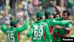 بنگلہ دیش کے کرکٹرز (فائل فوٹو)
