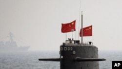 군사훈련 중인 중국 해군