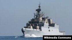 印度展示第一艘國產戰艦 (印度海軍圖片)