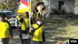 西藏流亡人士紀念自由西藏抗暴日舉行長途遊行