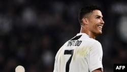 L'attaquant portugais Cristiano Ronaldo de la Juventus lors du match de football italien, Juventus contre Napoli à Turin, le 29 septembre 2018.