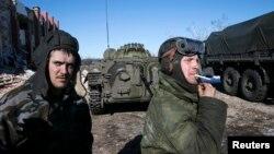 Separatis pro Rusia menguasai sepenuhnya daerah Debaltseve di Ukraina timur (18/2).