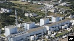 日本福島核電站在去年地震前的圖片。