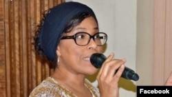 Nathalie Yamb, expulsée de Côte d'Ivoire pour activités incompatibles avec l'intérêt national.