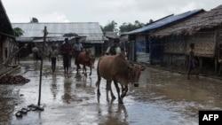 Kamp etnis Rohingya di Sittwe, negara bagian Rakhine, Myanmar (foto: ilustrasi).