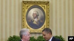 美國總統奧巴馬星期四在白宮會晤意大利總理馬里奧蒙蒂