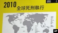 2010年全球死刑执行状况分布图