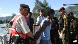 Tersangka bajak laut Somalia ditahan di Port Victoria, Australia (foto: dok).