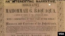 "Capa do livro ""An interesting narrative: Biography of Mahommah G. Baquaqua"" - 11:00"
