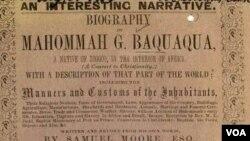 "Capa do livro ""An interesting narrative: Biography of Mahommah G. Baquaqua"" - 11:00"