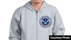 "A hoodie calling the U.S. Deprtment Of Homeland Security the ""Department of Homeland Stupidity."""