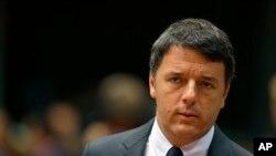 Le Premier ministre italien Matteo Renzi, 21 octobre 2016.