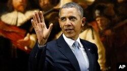 Presiden AS Barack Obama mengatakan AS dan Eropa bersatu terkait krisis di Ukraina (24/3).
