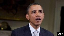Barak Obama tokom redovnog subotnjeg obraćanja naciji 30. aprila 2011.