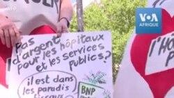 Paris: manifestation des agents de la santé qui réclament une hausse des salaires
