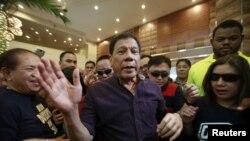 필리핀의 로드리고 두테르테 대통령 당선인. (자료사진)