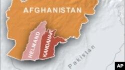 Peta wilayah Helmand dan Kandahar di Afghanistan (Foto: dok).
