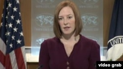 美國國務院發言人莎琪 (視頻截圖)