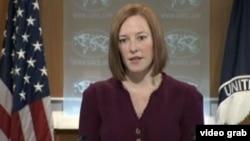 美国国务院发言人莎琪(视频截图)