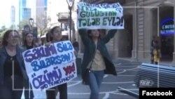 Feminist Hərəkatı yürüş keçirir