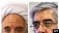 Hai nhà lãnh đạo phe đối lập ở Iran Mehdi Karroubi và Mir Hossein Mousavi