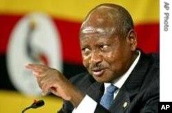 Incumbent President Yoweri Muzeveni