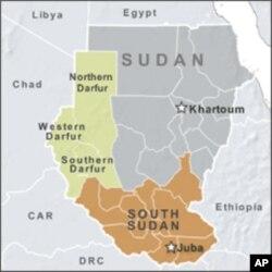 南苏丹和苏丹地图