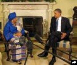 Rais Ellen Johnson Sirleaf na rais Barack Obama