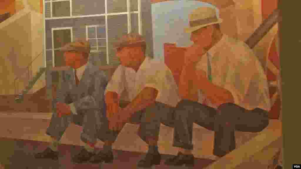 Дело од Бен Шахн, претставува сцени од американскиот живот.