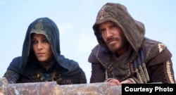 "Michael Fassbender and Marion Cotillard in a scene from ""Assassin's Creed"" (Photo courtesy 20th Century Fox)"